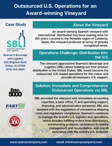 Outsourced U.S. Operations for an Award-winning Vineyard | Seaman's Beverage and Logistics